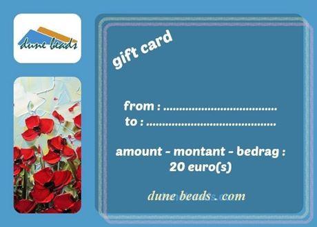 Afbeelding van Cadeaubon dune beads - 20 euro's