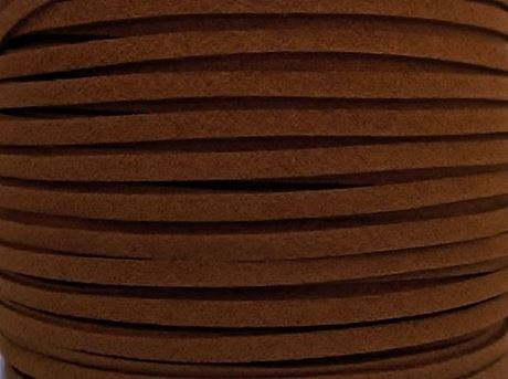 Picture of 3x1,2 mm, Ultra suede synthetic lace, light brown