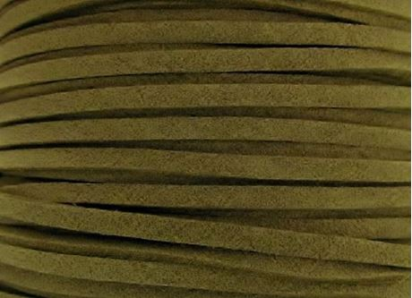 Picture of 3x1,2 mm, Ultra suede synthetic lace, olive green