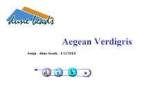 Picture of Aegean Verdigris, description ONLY, English version