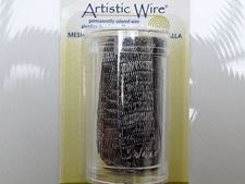 Picture of Artistic Wire, copper wire, tubular mesh, 10 mm, hematite