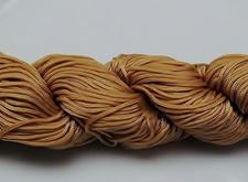 Picture of Chinese knotting cord - braided nylon cord, 0.8 mm, light beige