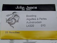 Picture of John James needles, size 10, 25 needles