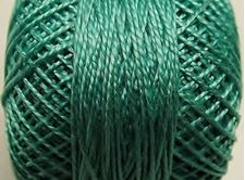 Picture of Pearl cotton, size 8, medium sea green, shiny