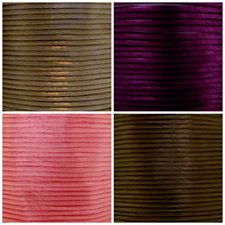 Image de Queue de rat, cordon en satin de rayon, 2 mm, 4 couleurs, set 1