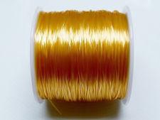 Image de Corde à bijoux élastique, 0.8 mm, jaune or, 64 mètres