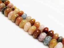 Picture of 6x10 mm, rondelle, gemstone beads, agate, multicolored, natural