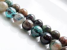 Afbeelding van 8x8 mm, rond, edelsteen kralen, azuriet, natuurlijk