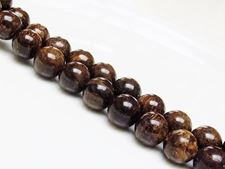 Picture of 12x12 mm, round, gemstone beads, bronzite, natural