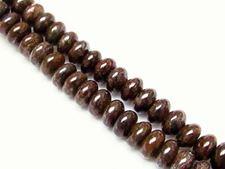 Afbeelding van 5x8 mm, rondel, edelsteen kralen, bronziet, natuurlijk