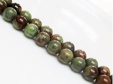 Picture of 10x10 mm, round, gemstone beads, common opal, green, natural