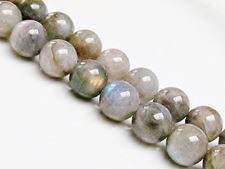Picture of 10x10 mm, round, gemstone beads, labradorite, natural, AB-grade