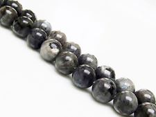 Picture of 8x8 mm, round, gemstone beads, larvikite, natural