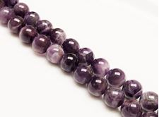Picture of 8x8 mm, round, gemstone beads, amethyst, natural, AB-grade