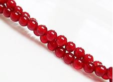 Picture of 4x4 mm, round, gemstone beads, red carnelian, natural, AA-grade