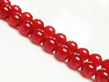 Picture of 8x8 mm, round, gemstone beads, carnelian, red, natural, A-grade