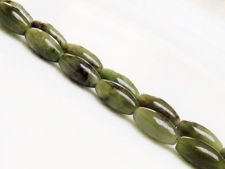 Picture of 6x12 mm, rice, gemstone beads, Canadian jade, nephrite, natural