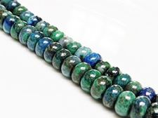 Picture of 5x8 mm, rondelle, gemstone beads, chrysocolla, natural