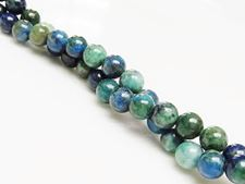 Picture of 6x6 mm, round, gemstone beads, chrysocolla, natural