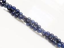 Picture of 4x4 mm, round, gemstone beads, lapis lazuli, A+-grade