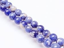 Picture of 8x8 mm, round, gemstone beads, sodalite, natural
