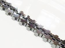 Afbeelding van 10x10 mm, Grieks kruis, edelsteen kralen, agaat, hematiet