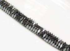 Afbeelding van 2x4 mm, balkvormige, edelsteen kralen, hematiet