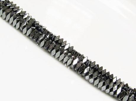 Picture of 2x4 mm, cuboid, gemstone beads, hematite