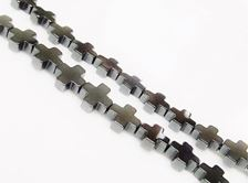 Picture of 6x6 mm, Greek cross, gemstone beads, hematite