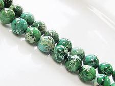 Image de 10x10 mm, perles rondes, pierres gemmes, jaspe impression, qualité A, vert émeraude