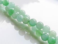 Picture of 6x6 mm, round, gemstone beads, light green Burmese jade, natural