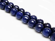 Picture of 12x12 mm, round, gemstone beads, jade, eclipse blue, A-grade, faceted