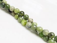Picture of 6x6 mm, round, gemstone beads, nephrite jade, natural