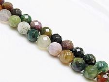 Picture of 10x10 mm, round, gemstone beads, Fancy jasper, natural, faceted