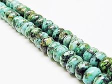 Picture of 5x8 mm, rondelle, gemstone beads, African turquoise, natural