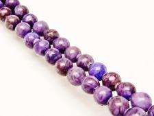 Picture of 6x6 mm, round, gemstone beads, ocean jasper, purple