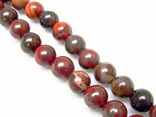 Picture of 6x6 mm, round, gemstone beads, poppy jasper, natural