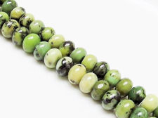 Picture of 7x10 mm, rondelle, gemstone beads, Chinese Chrysoprase, natural