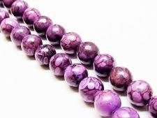 Picture of 8x8 mm, round, gemstone beads, ocean jasper, purple