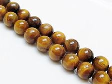 Picture of 10x10 mm, round, gemstone beads, tiger eye, natural, A-grade