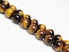 Picture of 12x12 mm, round, gemstone beads, tiger eye, natural, A-grade