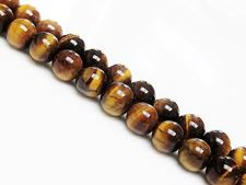 Picture of 8x8 mm, round, gemstone beads, tiger eye, natural, A-grade