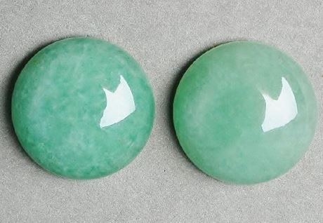 Picture of 20x20 mm, round, gemstone cabochons, aventurine, green, natural