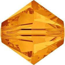 Picture of 8 mm, Xilion bicone Swarovski® Crystal beads, topaz yellow