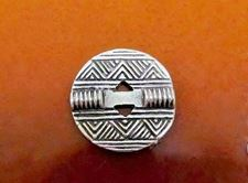 Picture of 21x21 mm, button type, Zamak beads, silver-plated