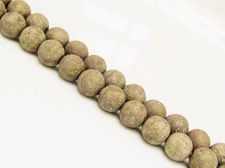 Picture of 8x8 mm, round, gemstone beads, pyrite, frosted