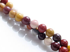 Picture of 6x6 mm, round, gemstone beads, Mookaite Windalia Radiolarite, natural, A-grade