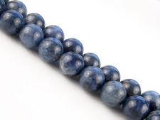 Afbeelding van 10x10 mm, rond, edelsteen kralen, dumortieriet, natuurlijk, A-klasse