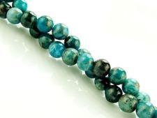 Image de 6x6 mm, perles rondes, pierres gemmes, apatite vert-bleu clair, naturelle