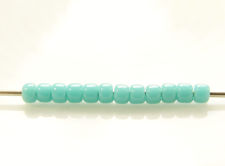 Picture of Japanese seed beads, Toho, size 11/0, turquoise green, opaque